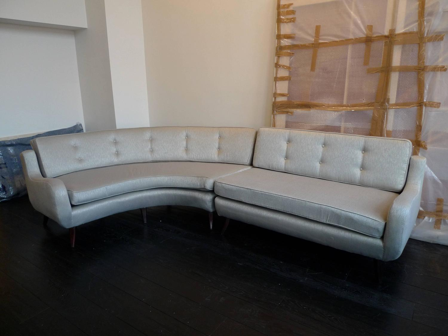 Rare two piece sectional sofa by ernst schwadron for sale for 2 pieces sectional sofa