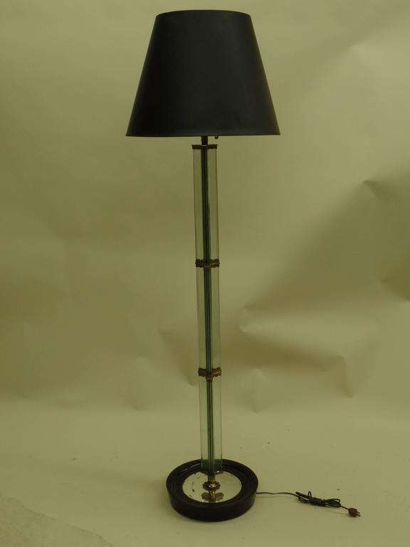 Italian Modern Glass Column Floor Lamp by Pietro Chiesa for Fontana Arte 1930 2