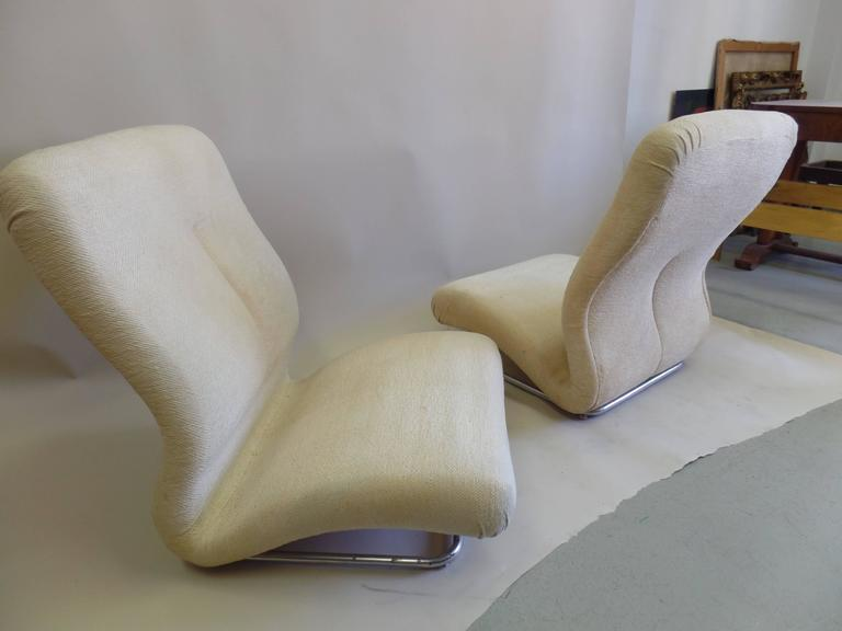 Important And Ultra Cool Pair Of Italian Space Age Mid Century Modern Armchairs