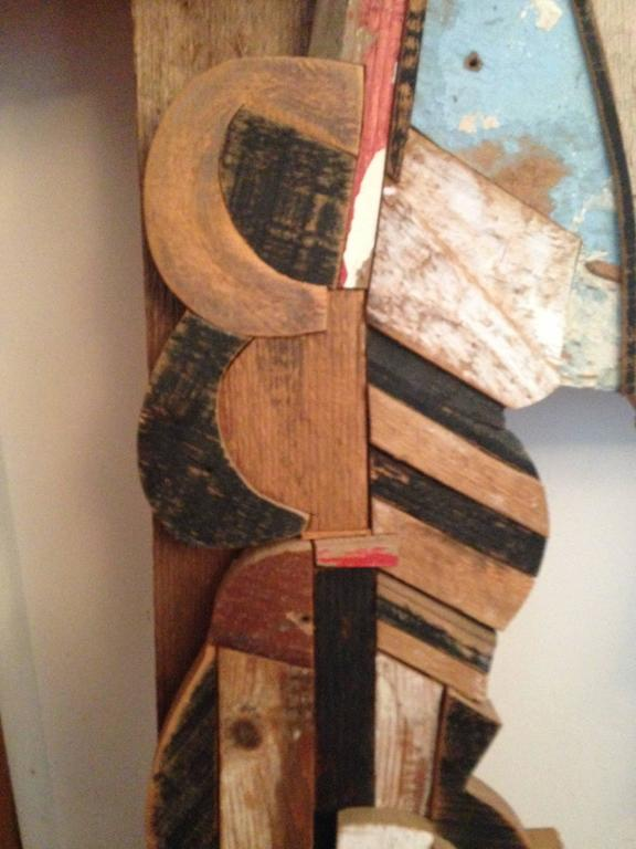 Abstract Wood Collage by Felice Antonio Botta, Italy, 20th Century For Sale 1