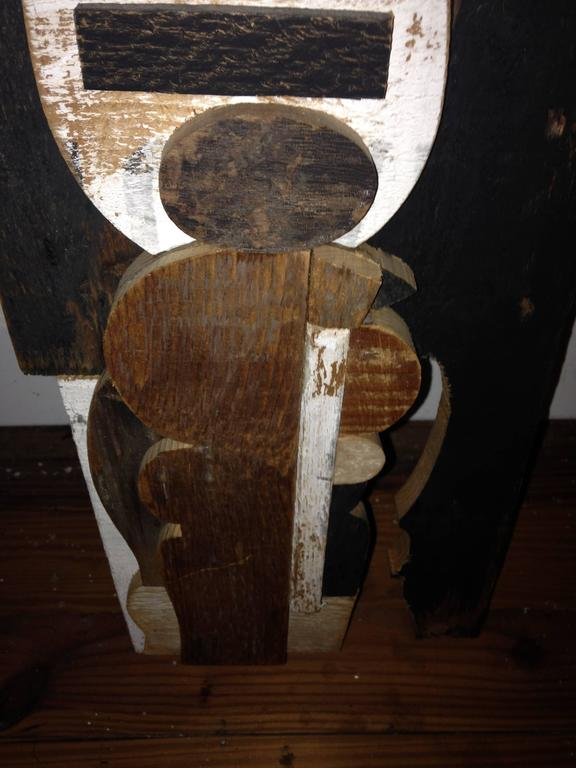 Abstract Wood Collage by Felice Antonio Botta, Italy, 20th Century For Sale 2