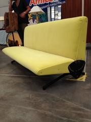 Italian Midcentury D 70 Sofa / Bed by Osvaldo Borsani for Tecno, New Upholstery