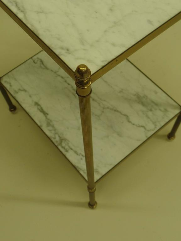 Pair of French Mid-Century Modern Neoclassical Side Tables by Maison Jansen 4