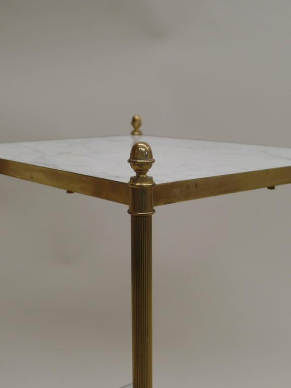 Pair of French Mid-Century Modern Neoclassical Side Tables by Maison Jansen 5