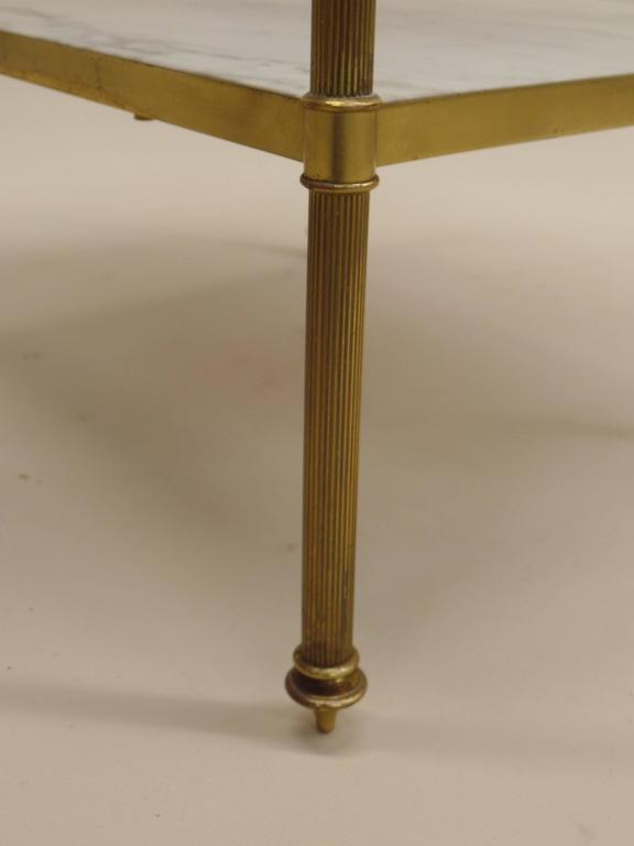 Pair of French Mid-Century Modern Neoclassical Side Tables by Maison Jansen 6
