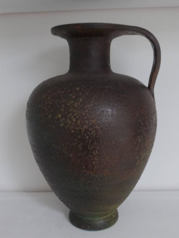 Pair of French Modern Neoclassical Vases/Amphora in Bronze Patina 3