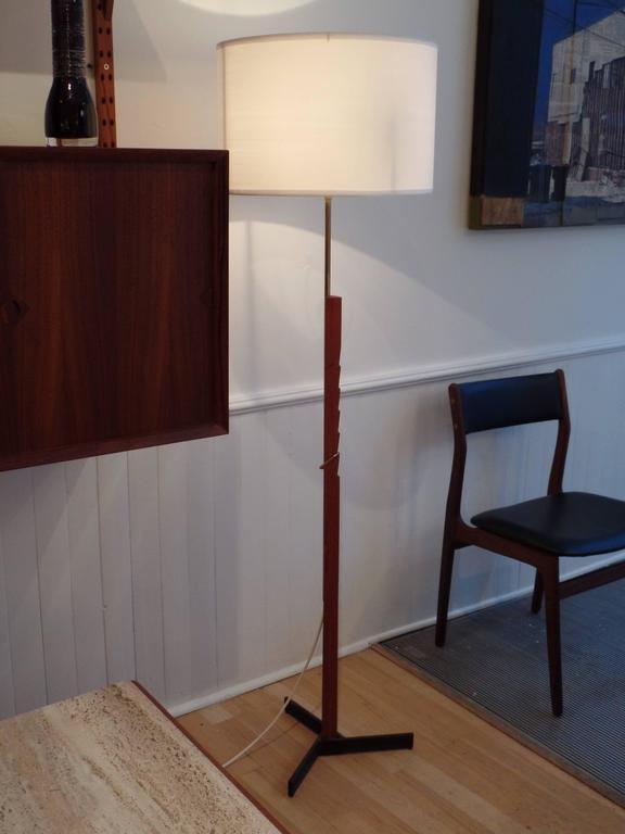 Pair of MId-Century Scandinavian Modern Adjustable Floor Lamps 3