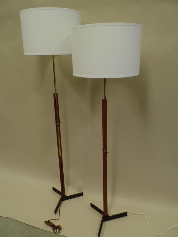 Pair of MId-Century Scandinavian Modern Adjustable Floor Lamps 2