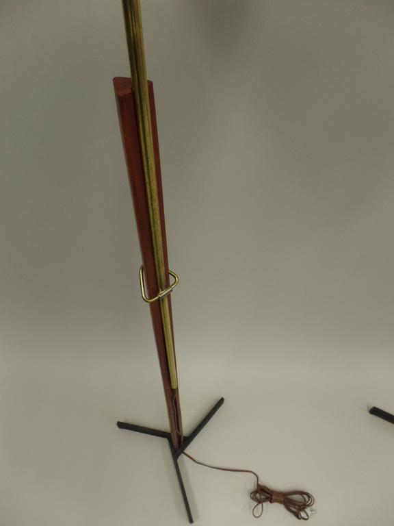 Pair of MId-Century Scandinavian Modern Adjustable Floor Lamps 5