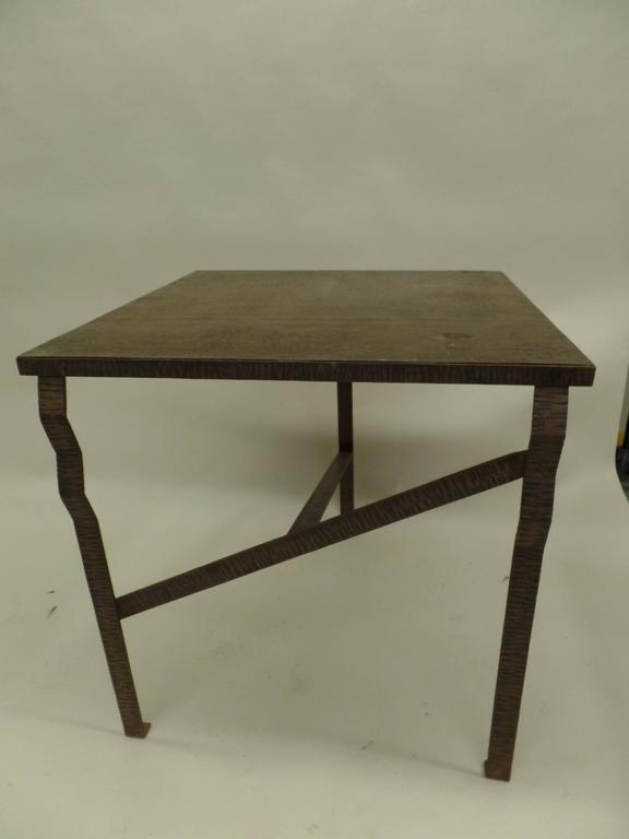 Important French Early Modern Hand Forged Console / Center Table Attr Paul Kiss 3