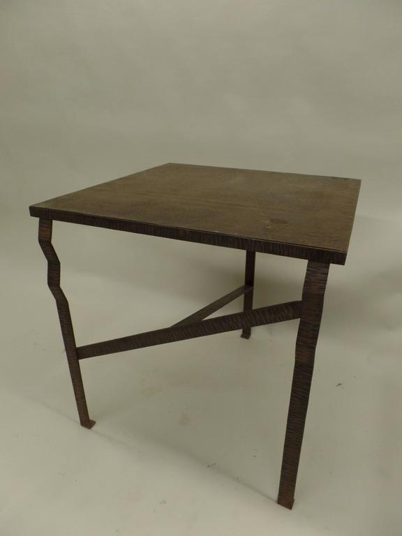 Important French Early Modern Hand Forged Console / Center Table Attr Paul Kiss 4