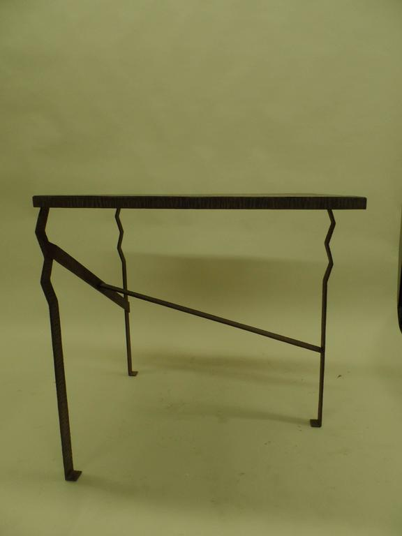 Important French Early Modern Hand Forged Console / Center Table Attr Paul Kiss 5