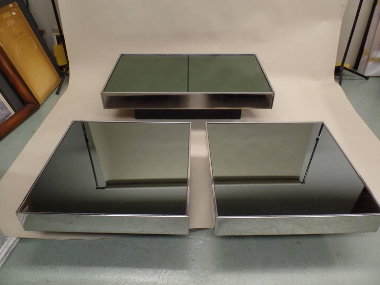 Italian Mid-Century Expandable Coffee Table & Pair of End Tables by Willy Rizzo 2