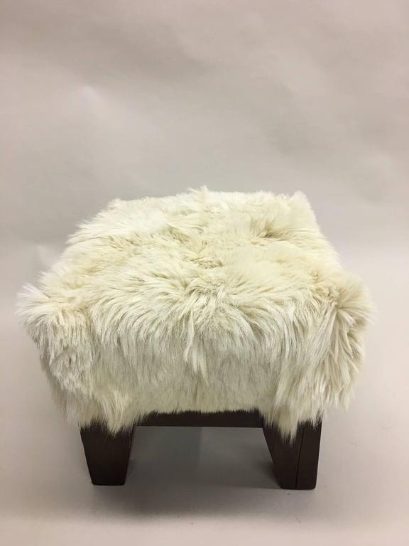 Pair of Italian, 1930s, Sheepskin Stools/Benches 3