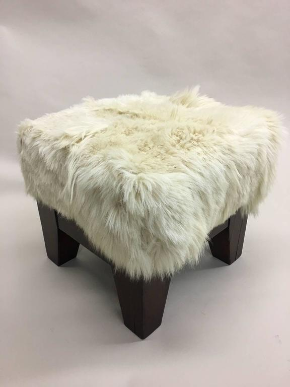 Pair of Italian, 1930s, Sheepskin Stools/Benches 2