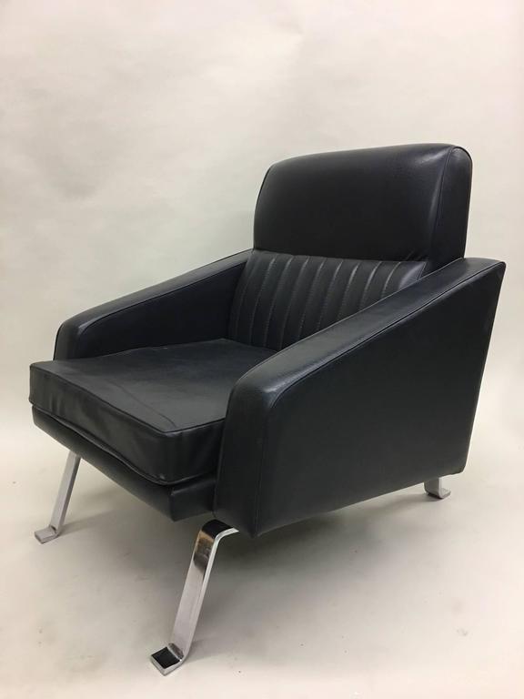20th Century Pair Italian Midcentury Lounge Chairs, Style of Ignazio Gardella, Diagramma For Sale