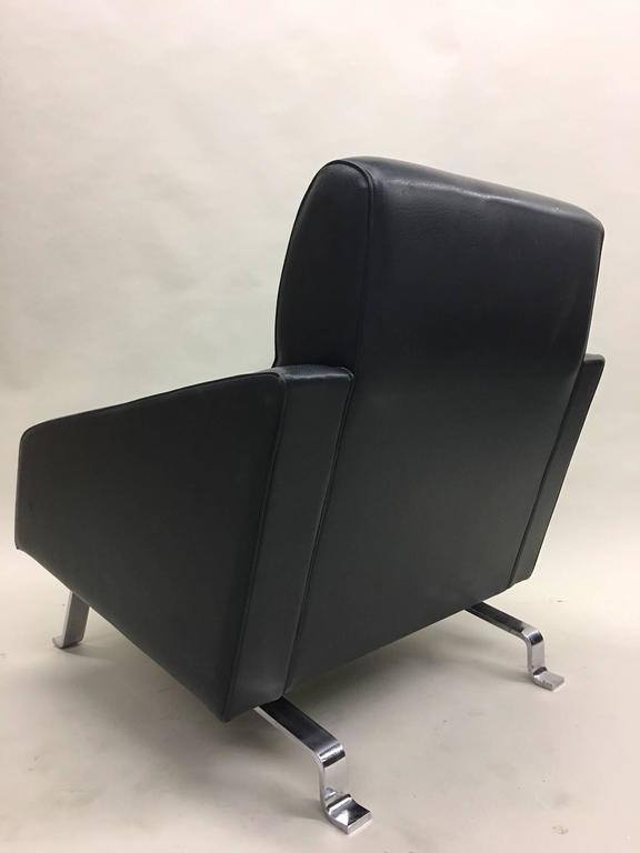 Pair Italian Midcentury Lounge Chairs, Style of Ignazio Gardella, Diagramma For Sale 1