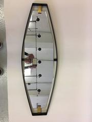 Rare Italian Sculptural Form Mirror, Attr. to Max Ingrand for Fontana Arte, 1950
