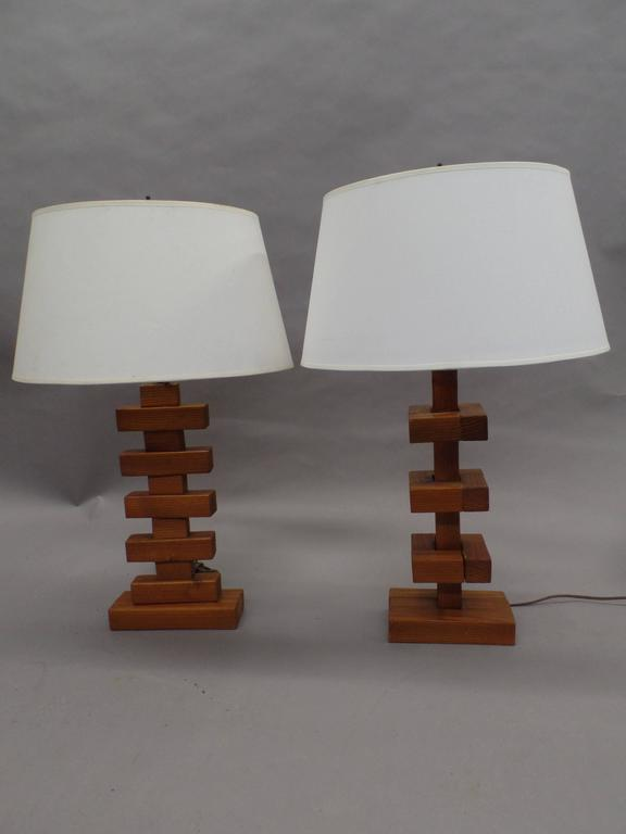 Important Pair Of Constructivist Table Lamps In The Style