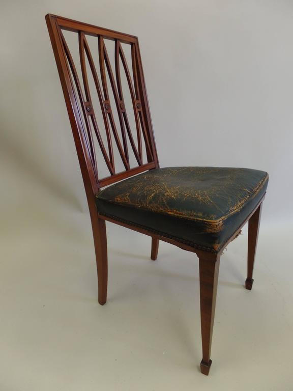 2 French Modern Neoclassical Desk Chairs / Side Chairs, Attributed Andre Arbus 2