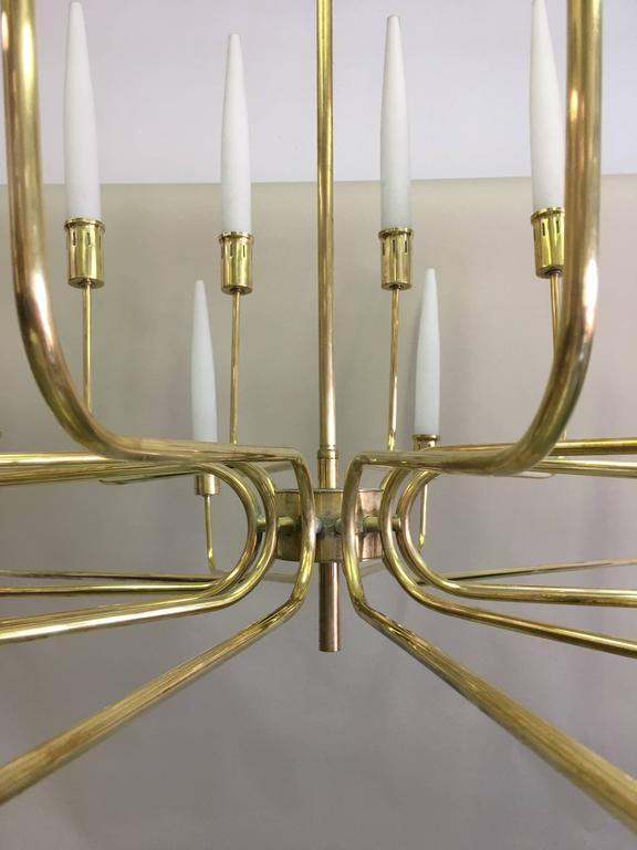 20th Century Large Italian Mid-Century Modern Neoclassical Multi-Tier Chandelier by Stilnovo For Sale
