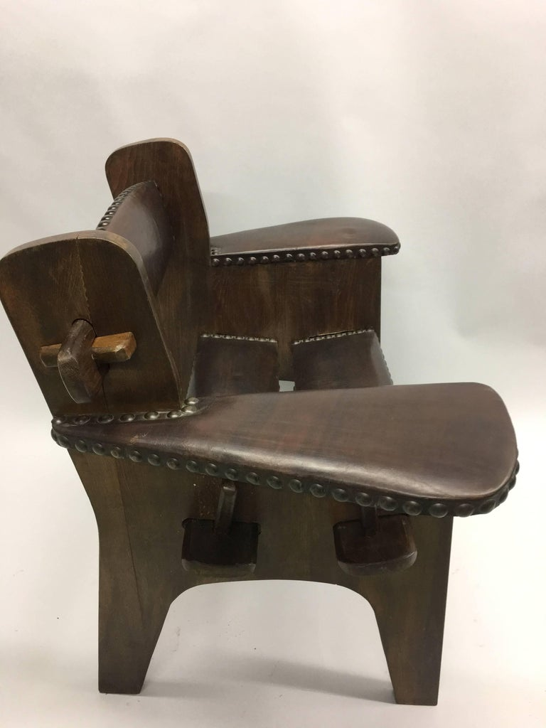 Pair of Italian Early Modern / Futurist Lounge Chairs, Giacomo Balla Attributed For Sale 1