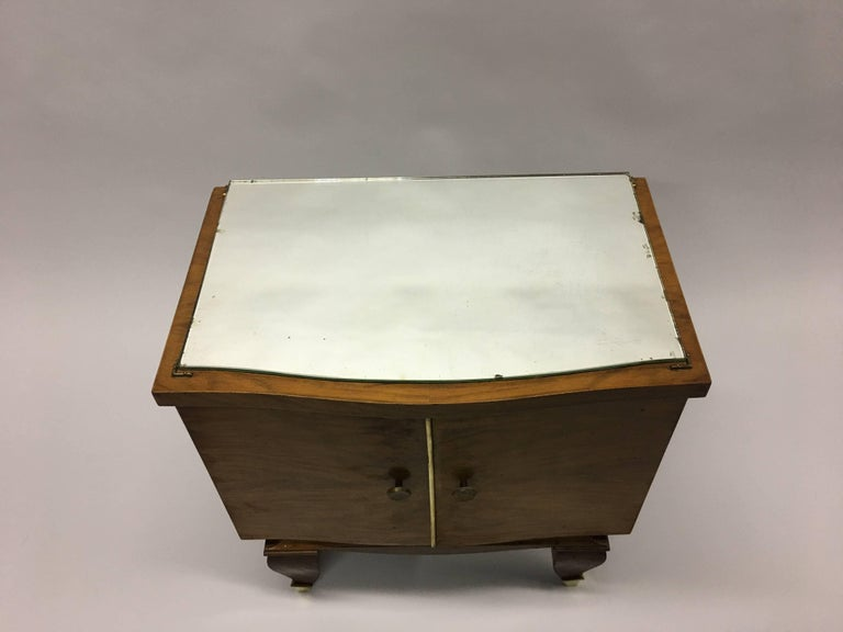 Pair of Mid-Century Modern Neoclassical Side Tables/Nightstands, Rene Prou 3