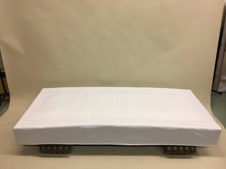 Art Deco French Mid-Century Modern Daybed, Single Bed or Chaise Longue by Christian Krass For Sale
