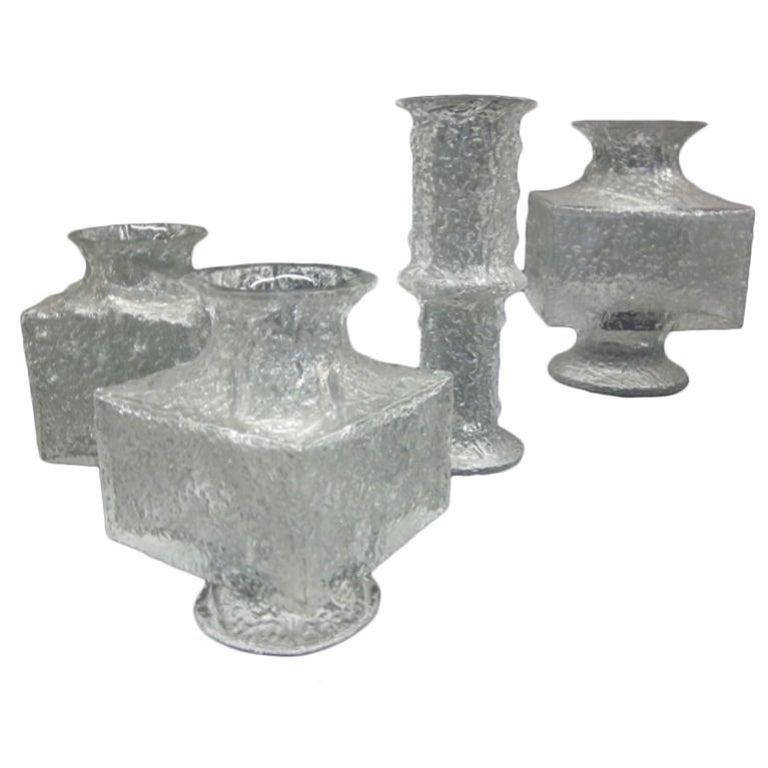 Five Scandinavian Mid-Century Modern Blown Glass Vases by Timo Sarpaneva Iittala