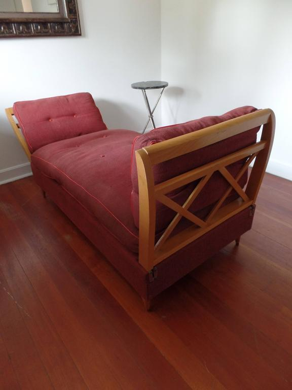 Mid-20th Century French Mid-Century Modern Neoclassical Sofa or Day Bed Attributed Jean Royère For Sale