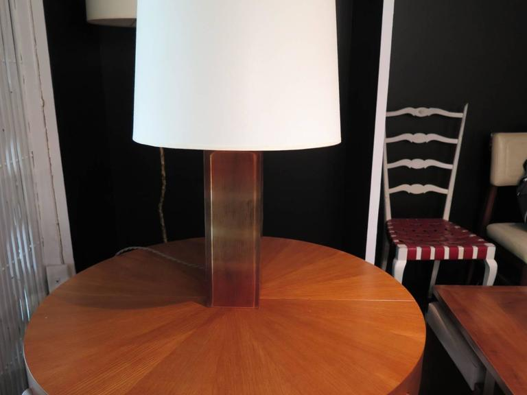 Italian Pair of Resin Base Table Lamps For Sale