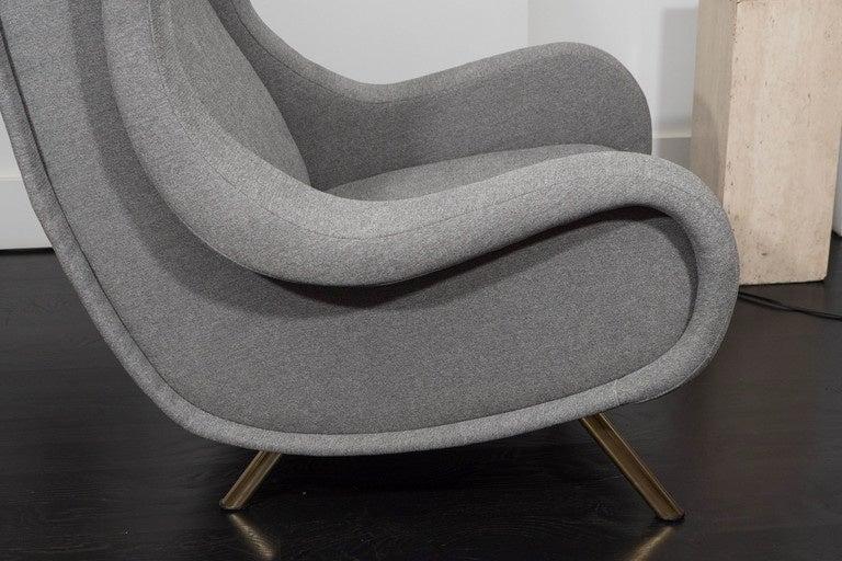 Brass Marco Zanuso Senior Chair For Sale