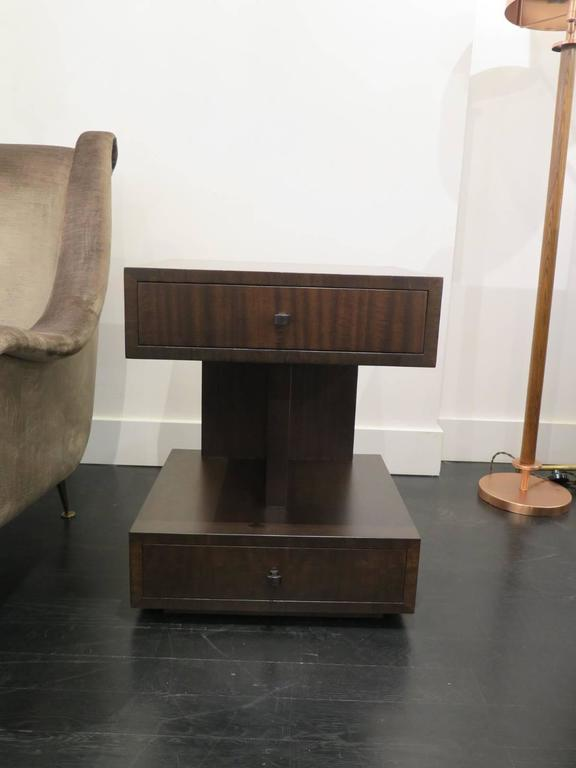 Andrew Szoeke Two-Tiered Side Tables In Excellent Condition For Sale In New York, NY