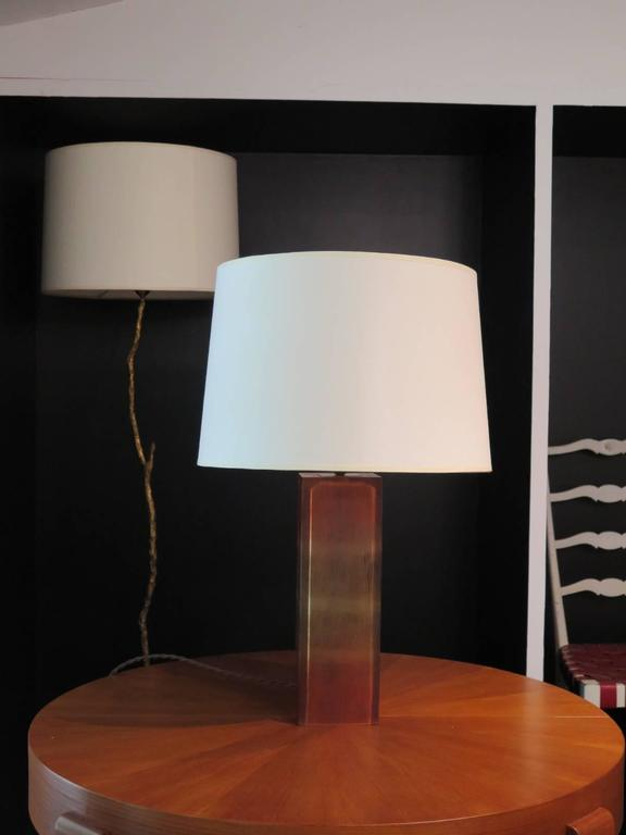 20th Century Pair of Resin Base Table Lamps For Sale