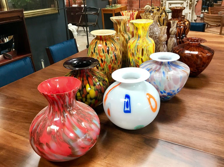 Florentine Handblown Vase in Various Shapes, Sizes and Colors from the 1980s 2