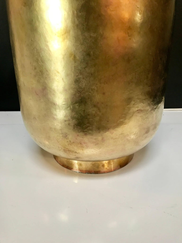 Super Chic Italian Vase in Brass, circa 1970 3