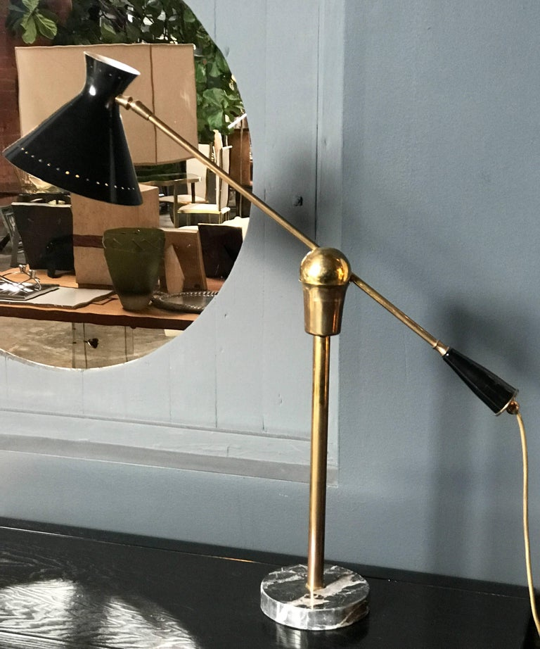 Italian table lamp with marble base.