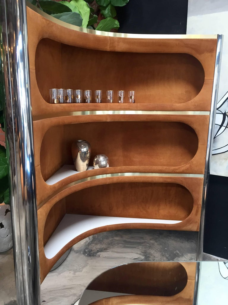 Rare Dry Bar and Storage of Willy Rizzo, Italy, 1970s For Sale 1