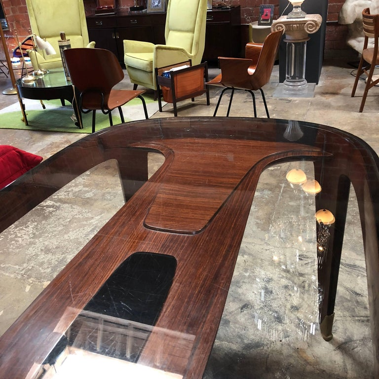 Mid-Century Modern Midcentury Dining Table in Cherrywood by Paolo Buffa for Arrighi, Italy, 1940s For Sale