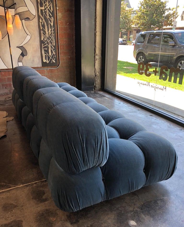 Mario Bellini Light Blue Original Fabric 'Camaleonda' Modular Sofa In Excellent Condition For Sale In Los Angeles, CA