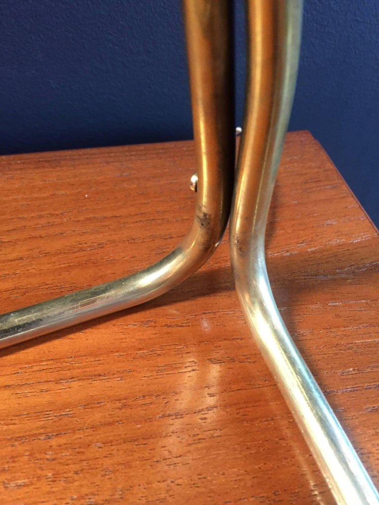 Desk Lamp in Brass and Dark Blue Metal, Italian, 1950s For Sale 2