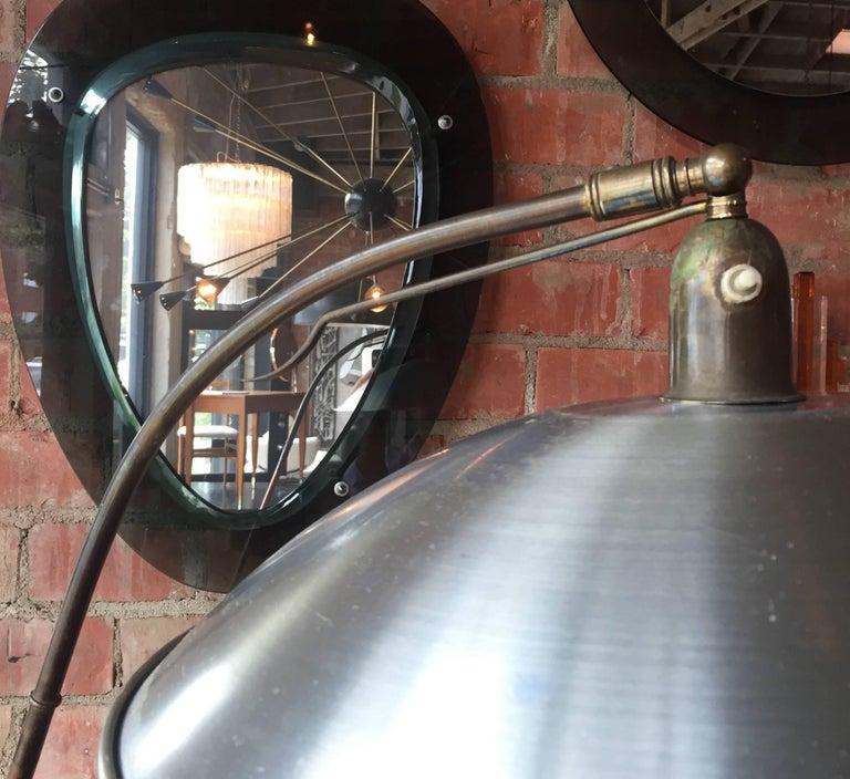 Italian Vintage Adjustable One-Arm Floor Lamp, 1950s For Sale 1