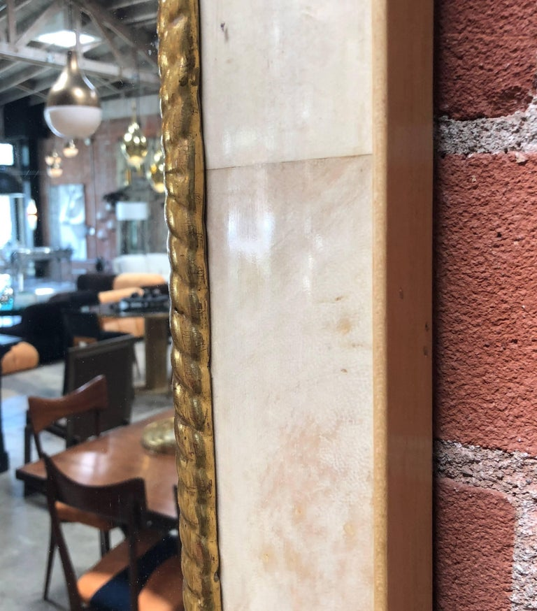 Pair of Large Italian Wall Mirrors, 1950s In Good Condition For Sale In Los Angeles, CA