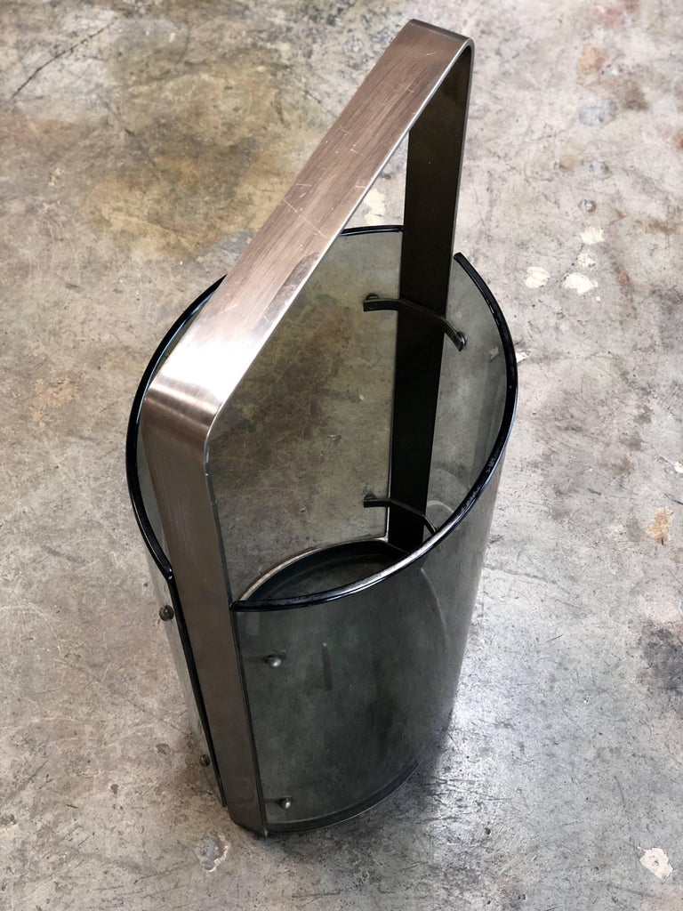 Mid-20th Century Umbrella Stand by Max Ingrand for Fontana Arte, Italy, 1960s For Sale