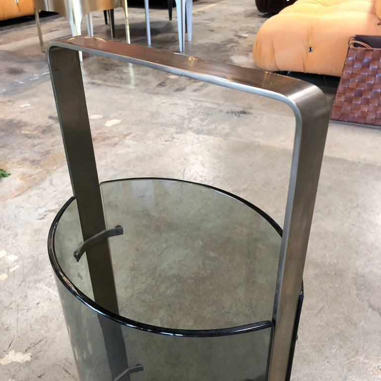 Umbrella Stand by Max Ingrand for Fontana Arte, Italy, 1960s In Good Condition For Sale In Los Angeles, CA