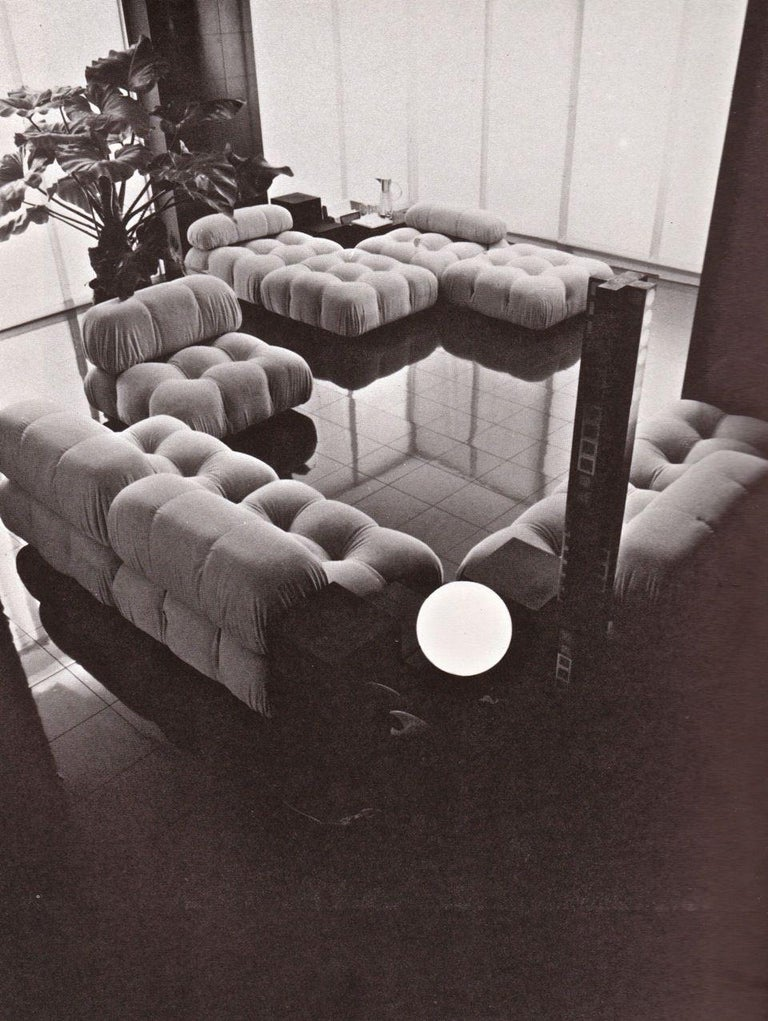 Mario Bellini Light Blue Original Fabric 'Camaleonda' Modular Sofa For Sale 2