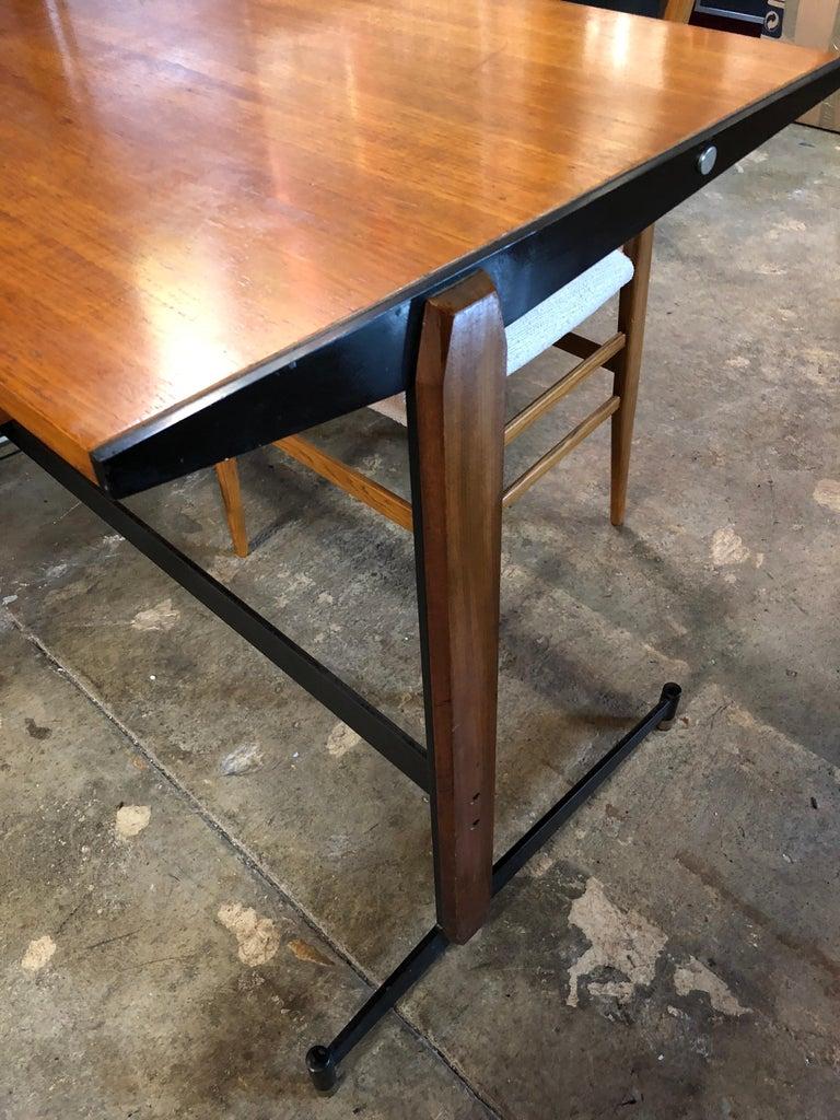 Mid-Century Modern Midcentury Italian Teak Writing Desk, 1950s For Sale
