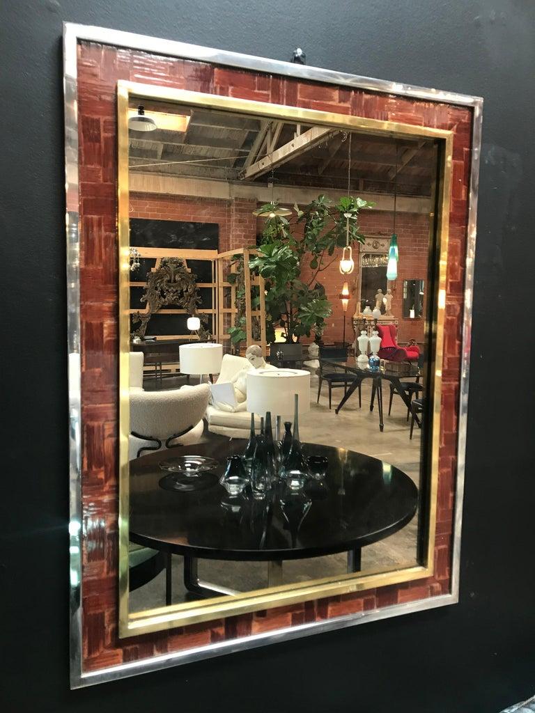 Mid-Century Modern Midcentury Tommaso Barbi Mirror, Italy, 1970s For Sale