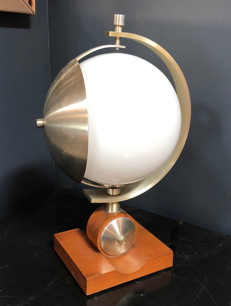 Anodized Italian Space Age Turn Able Table Lamp, 1960s For Sale