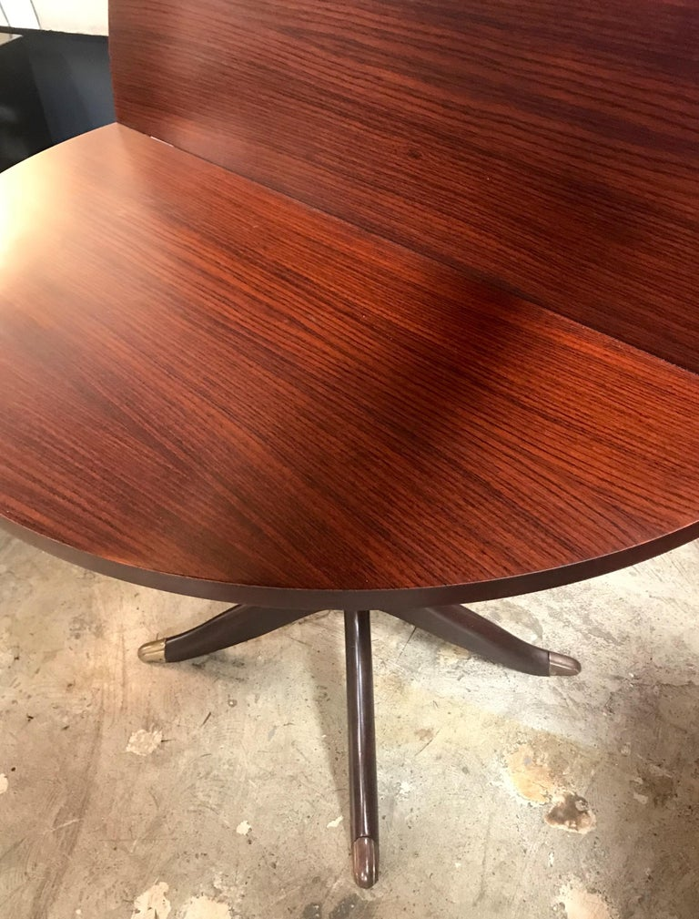Midcentury Console Rosewood Table, Italy, 1950s In Excellent Condition For Sale In Los Angeles, CA